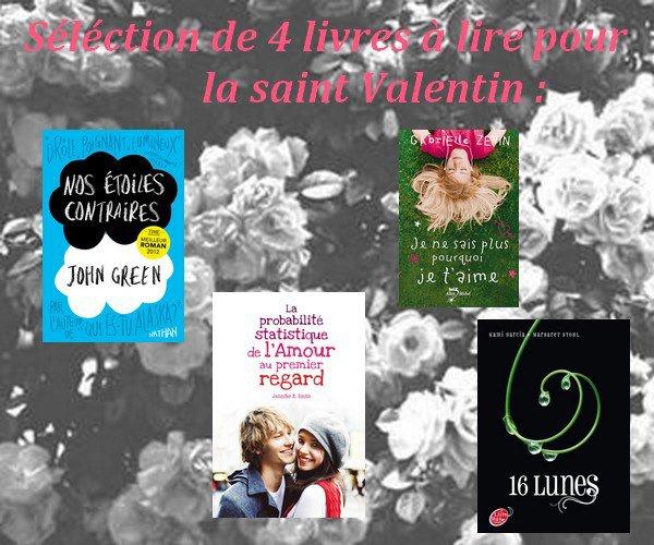 Livres pour la saint Valentin