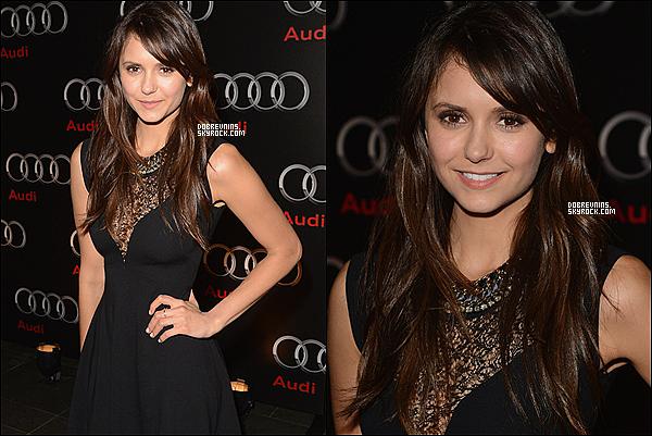 """02/02/13 - Nina était à la fête  """"Super Saturday"""" par DirectTV pour le lancement du Super Bowl. Il s'agit de la même soirée que l'article précédent. Nina a changée de robe entre temps, elle est vraiment magnifique ! Ton avis ?"""