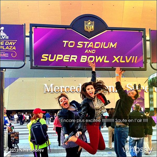• Voici diverses nouvelles photos Instagram de Nina lors du Super Bowl hier soir ! •