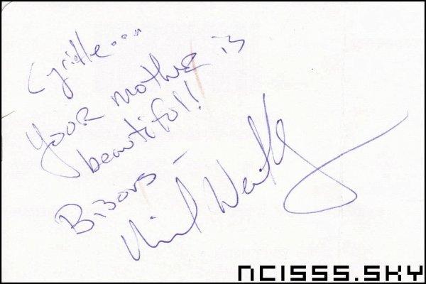 J'ai eu un autographe de Dinozzo♥.♥