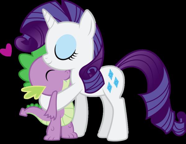 Rarity et Spike