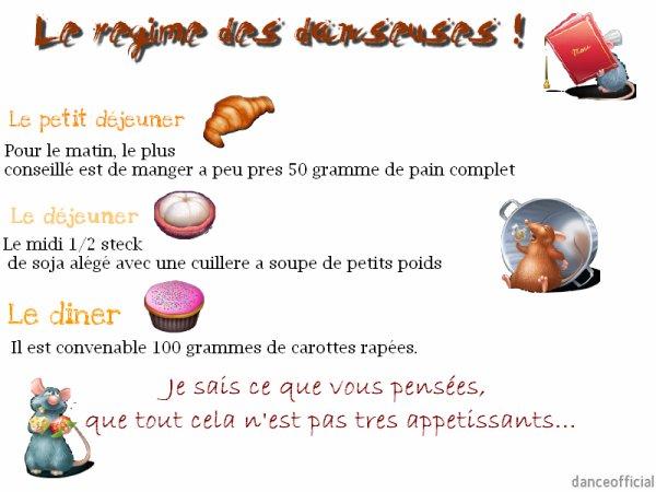 Régime des danseuses : Mmm.. TRÈS APPÉTISSANTS TOUT SA !!