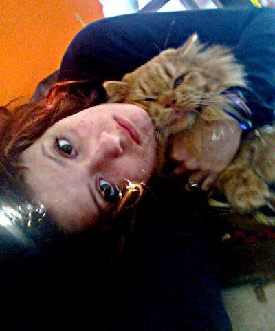 moi et mon petit chaton !! <3
