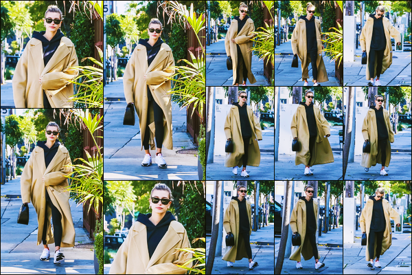 ''•-09/12/19-' : Hailey Baldwin a été photographiée, alors, qu'elle quittait un café dans les rues à Beverly Hills. La belle mannequin  Hailey Baldwin continue de nous gâter en sortie tout les jours... Concernant sa tenue, c'est un beau top, de ma part !