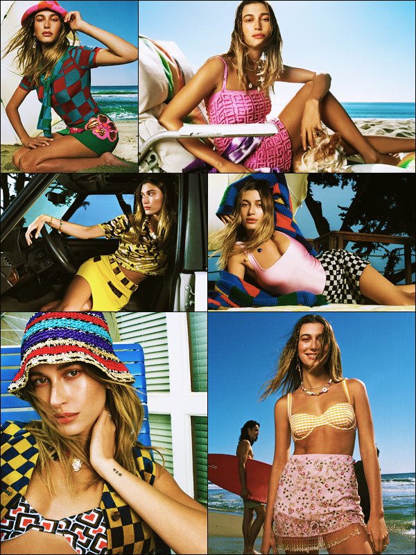 '-● PHOTOSHOOT- Hailey Baldwin a posée pour « Vogue Editorial  » du mois de Juin et Juillet.