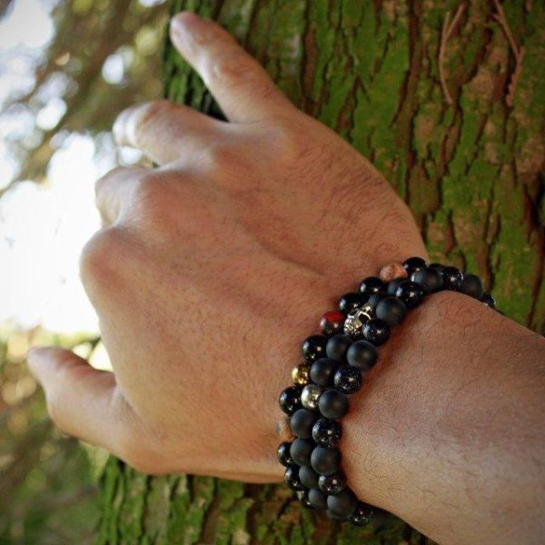 Bracelet perle homme Francesco Mariani