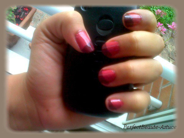 Tutoriel  : Vernis Bicolore