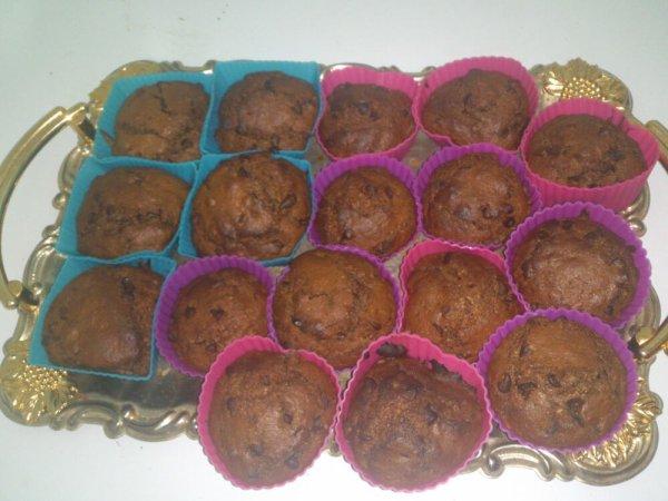 Mes muffins au chocolat