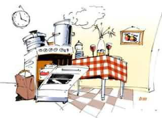 La cuisine est en désorde !!!!!