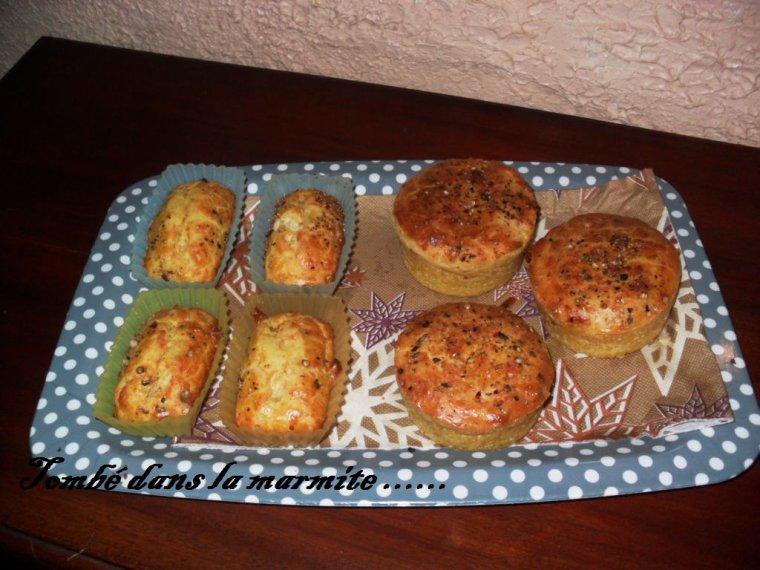 Cake au roquefort , aux noix , et aux  lardons