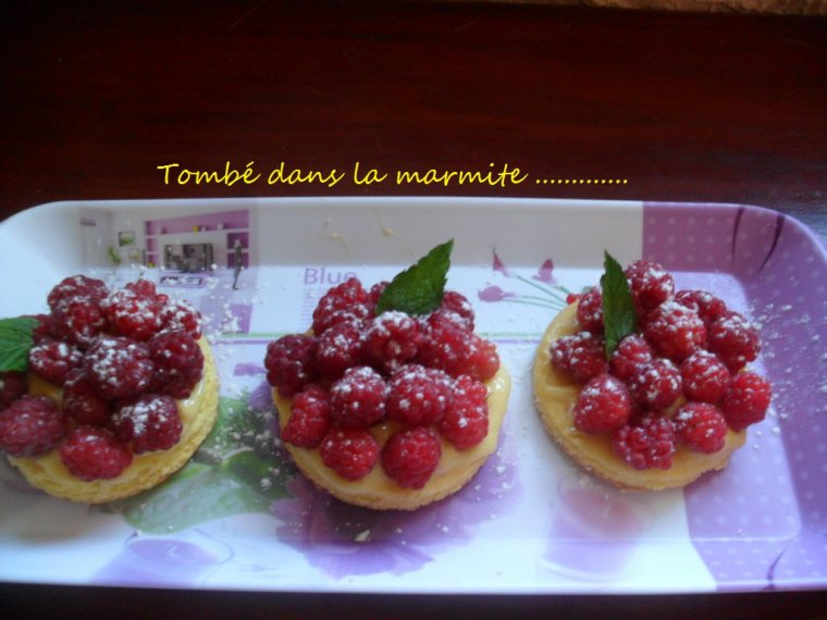 Tartelettes aux framboises !!!!! Nouvelle version ..........