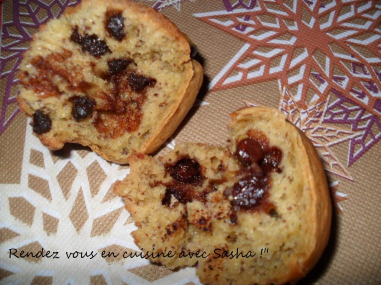 Mini-cakes au yaourt banane-chocolat