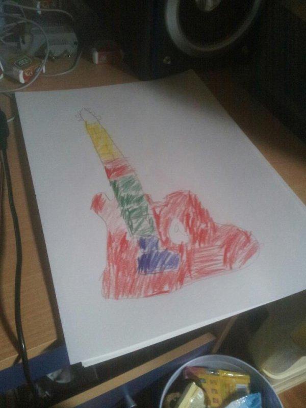 ma guitare que j ai dessiner