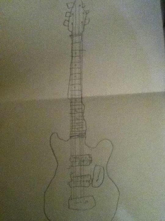 ma guitare que j ai dessiner en cours
