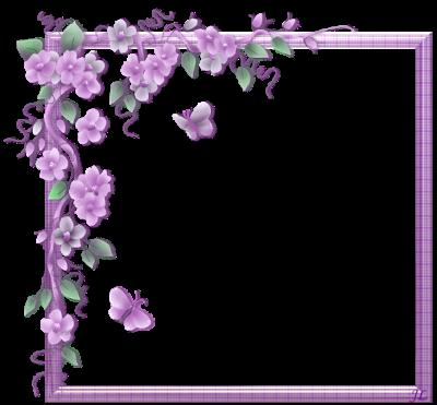 Cadre fleurs mauves - Clair De Lune