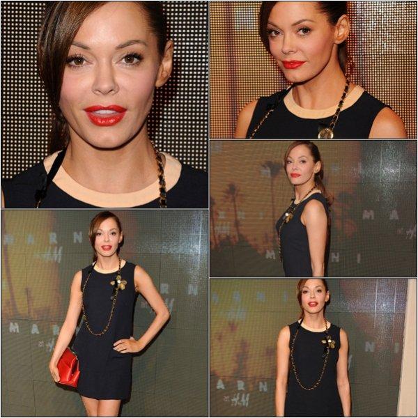 - Rose était à la boutique Marni Chez H & M pour le lancement de la collection. Elle est vraiment belle. -