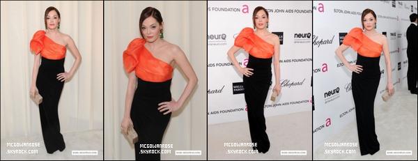 - Rose était à la 20e édition Elton John AIDS Foundation Oscars Affichage . Elle est vraiment belle. -
