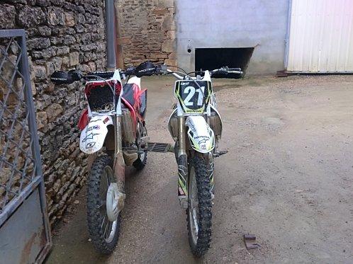 ma moto et celle d un pote