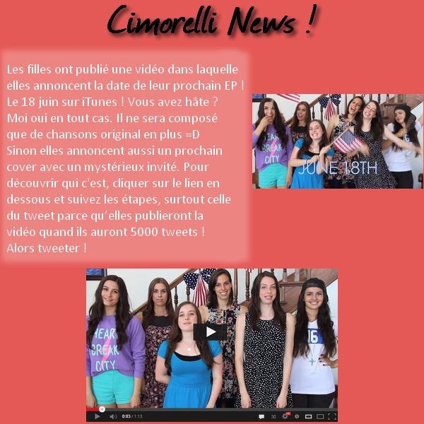 Cimorelli News