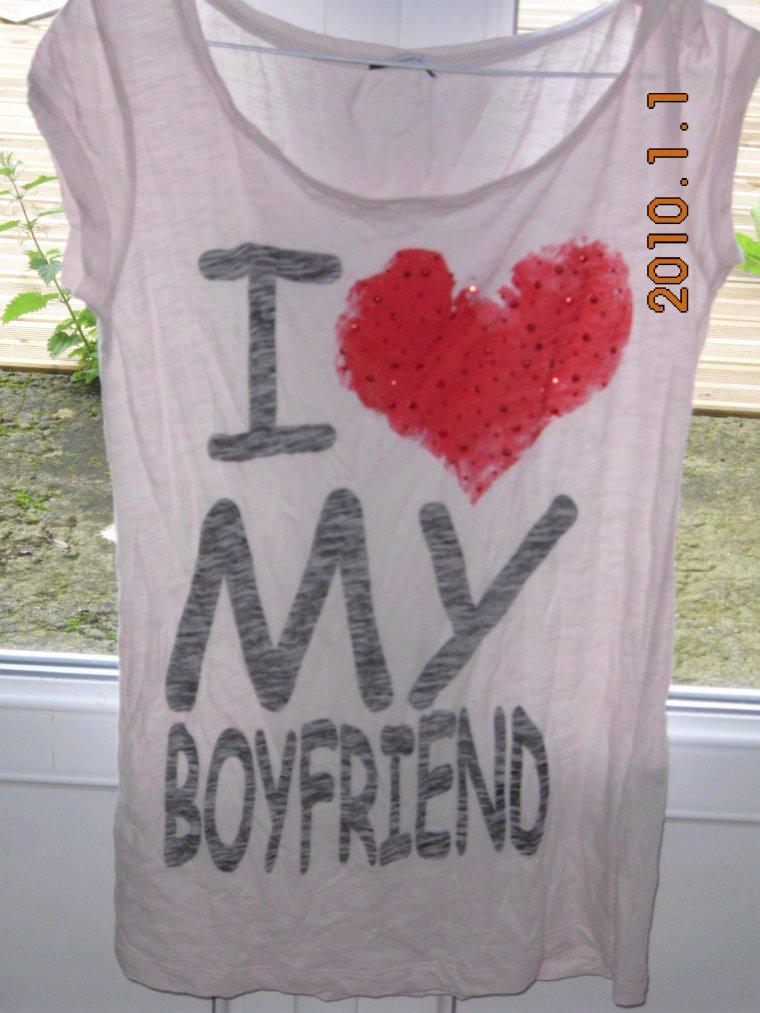 Tee-shirt Pimkie ' I love My BoyFriend
