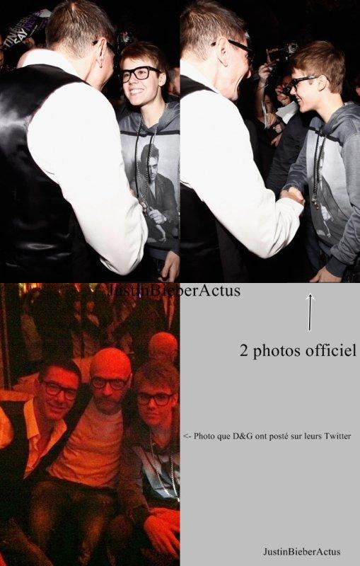Bieber à la fête organisé par Dolce & Gabbana          Justin Bieber était l'invité deDomenico DolceetStefano Gabbana, hier, le 9 avril à la fête qui était organisé au«Dolce & Gabbana Gold Restaurant»àMilan en Italie.  Article rédigé par JustinWorld et posté par Kenza