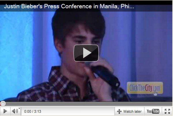 . 10 Mai. Conférence de presse à Manille, Philippines. + Photo du concert à Manille. . Posté par Manon.