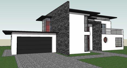 Maison moderne 190 m 4 chambres blog de for Plan maison sketchup