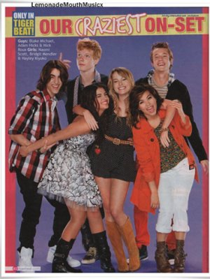 Lemonade Mouth dans le magazine BOP Tiger Beat