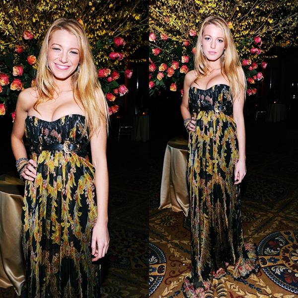Blake dans une robe Alexander McQueen, présente au gala amfAR pour ouvrir le début de la Fashion Week à New York, le 09 Février.
