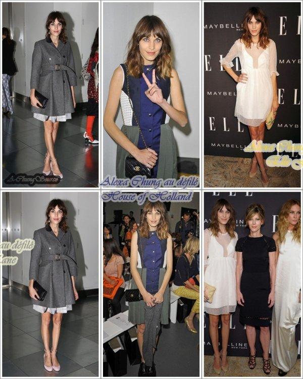 Alexa à la FashionWeek de LONDON
