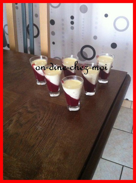 Panna cotta au chocolat blanc et à la framboise