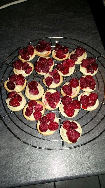 Minis tartelettes aux framboises