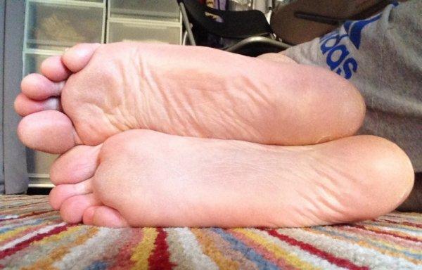 Plantes de pieds couchées