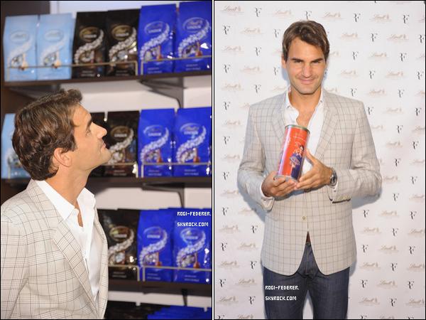 23/08/2012 : Roger à la première de la fête de Lindt chocolat