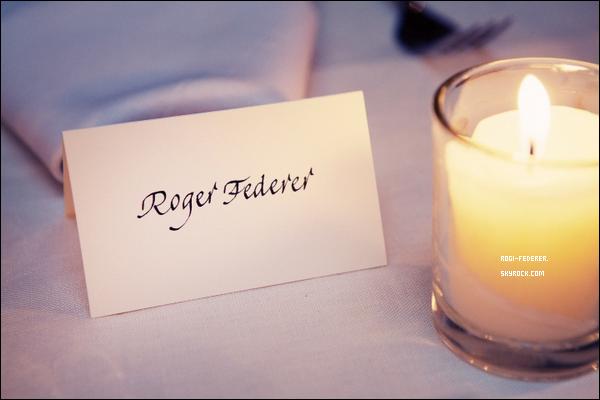 """23/08/2012 : Roger a célébré son anniversaire à """"The Beatrice Inn, New York"""", une fête organisée par sa fidèle amie Anna Wintour sous le nom """"The Birthday of Champions"""""""