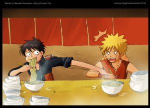 One shot - Luffy vs Naruto (by Sayuri)