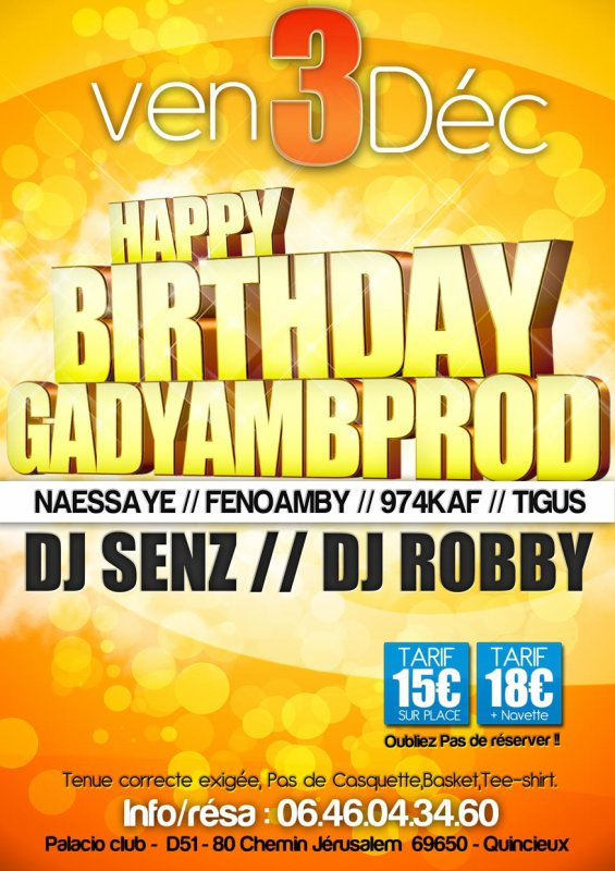 VEND 3 DEC HAPPY BIRTHDAY GADYAMB PROD 1 AN DEJA