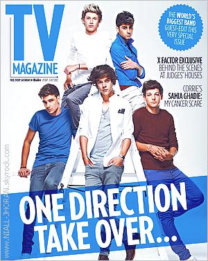 Septembre 2012 : Les garçons en couverture pour le magazine ''Fabulous''. Bonjour je m'appelle Niall, et je suis trop sexy, voilà ce que je retire de cette fabuleuse photo! . 2012 : Les garçons sont aussi en couverture du ''TV Magazine''. OMG! Non mais je meurs là, ils sont sexyyyyy! Je vous laisse bavées les filles. - Qu'en pensez-vous ? :-)