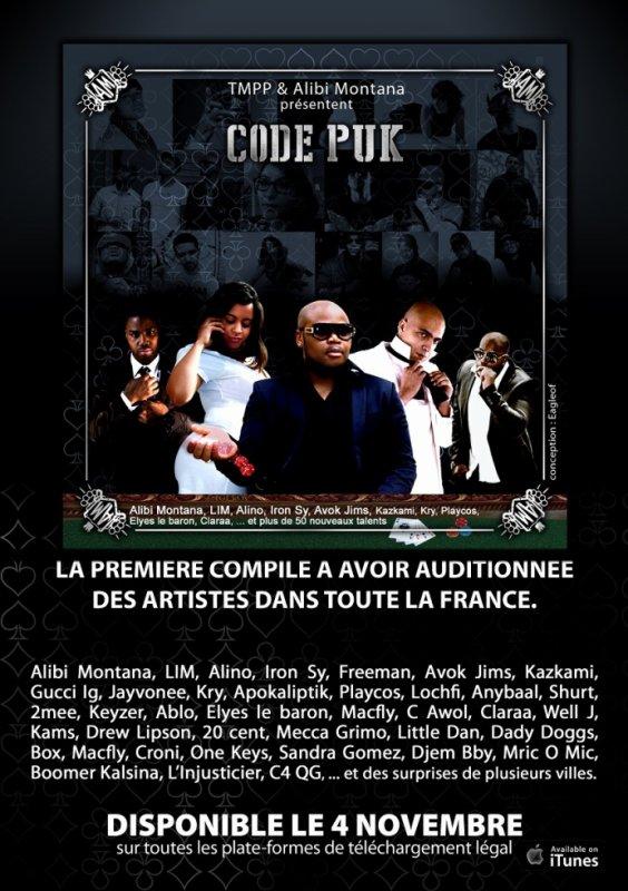 """Elyes le Baron est dans la compilation """"CODE PUK"""" d'Alibi Montana sortie prévue le 4 novembre"""