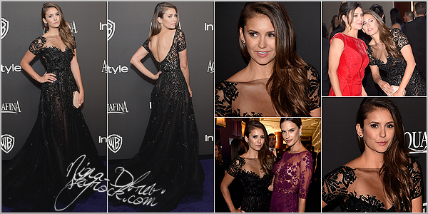 11/01/15 : Nina Dobrev, s'est rendue à la soirée « HBO's Post 2015 Golden Globe Awards Party », à Los Angeles. Nina portait une robe signé Zuhair Murad. Elle était resplendissante, j'adore son make-up ainsi que sa coiffure. On dirait une princesse.