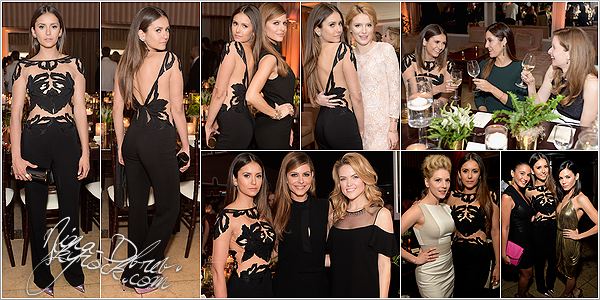 13/01/15 : Nina a assisté à l'événement « ELLE's Annual Women In Television Celebration », au Sunset Tower. La sublime Nina portait de nouveau une tenue de Zuhair Murad mais cette fois-ci, c'est une jolie combinaison qui lui va à merveille.