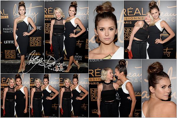 17/01/15 : Nina était présente lors de la soirée « Nine Zero One Salon Melrose Place Launch Party », à Los Angeles Vous pouvez notamment la voir en compagnie de son amie Julianne Hough, Riawna Capri, Ashley Tisdale ou encore Jennifer Morrison.