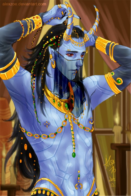 C'est que même sous sa forme Jotunn il est charmant, ce cher Loki *µ*
