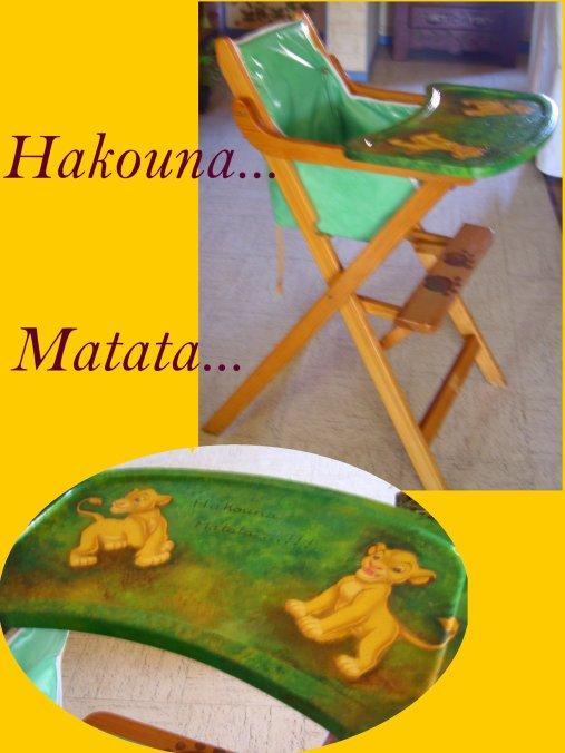 Chaise Haute Du Roi Lion