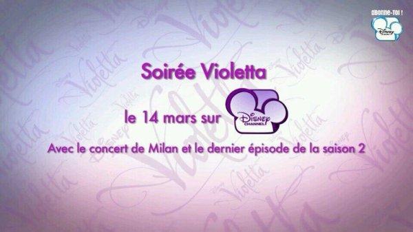 Ne ratez surtout pas la Soirée Violetta le 14 mars sur Disney Channel !