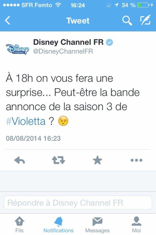 Bande Annonce VF Violetta 3 sur Disney Channel (18h) !! Remixez !!