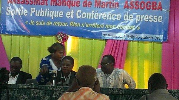 Conférence de Presse du Pdt de l'ONG ALCRER : Martin Assogba raconte sa mésaventure et diet niet à Louis Philippe Houndègnon