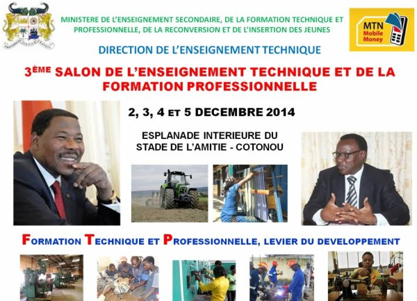 Préparatifs du 3eme Salon de l'enseignement technique et de la formation professionnelle : L'évènement s'ouvre le 02 décembre prochain au Stade de l'Amitié sous le patronage du Chef de l'Etat.