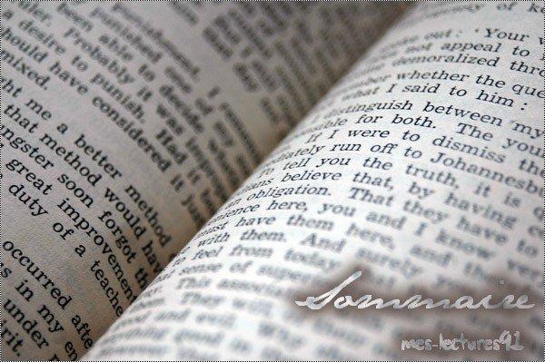Ce blog ne raconte pas les livres. Je donne simplement mon sentiment sur mes lectures. En toute sincérité. Vous pouvez donner le vôtre en écrivant un commentaire. J'ai hâte de vous lire ! Ma liste de lecture