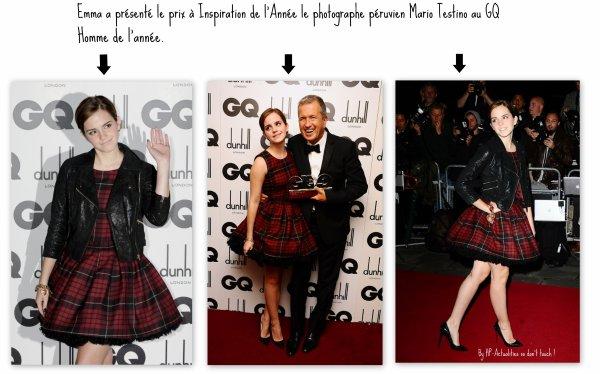 Emme et Elle / Emma au GQ Homme de l'Année.